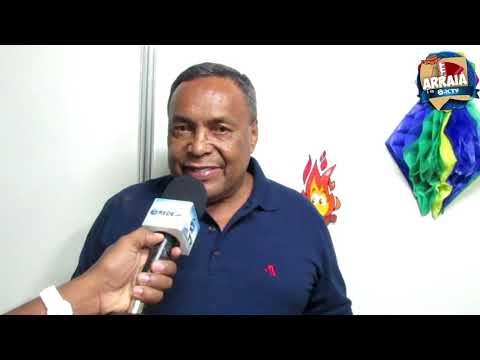 ENTREVISTA COM O PREFEITO EVANDRO ALMEIDA NO ARRAIÁ DO CHICO
