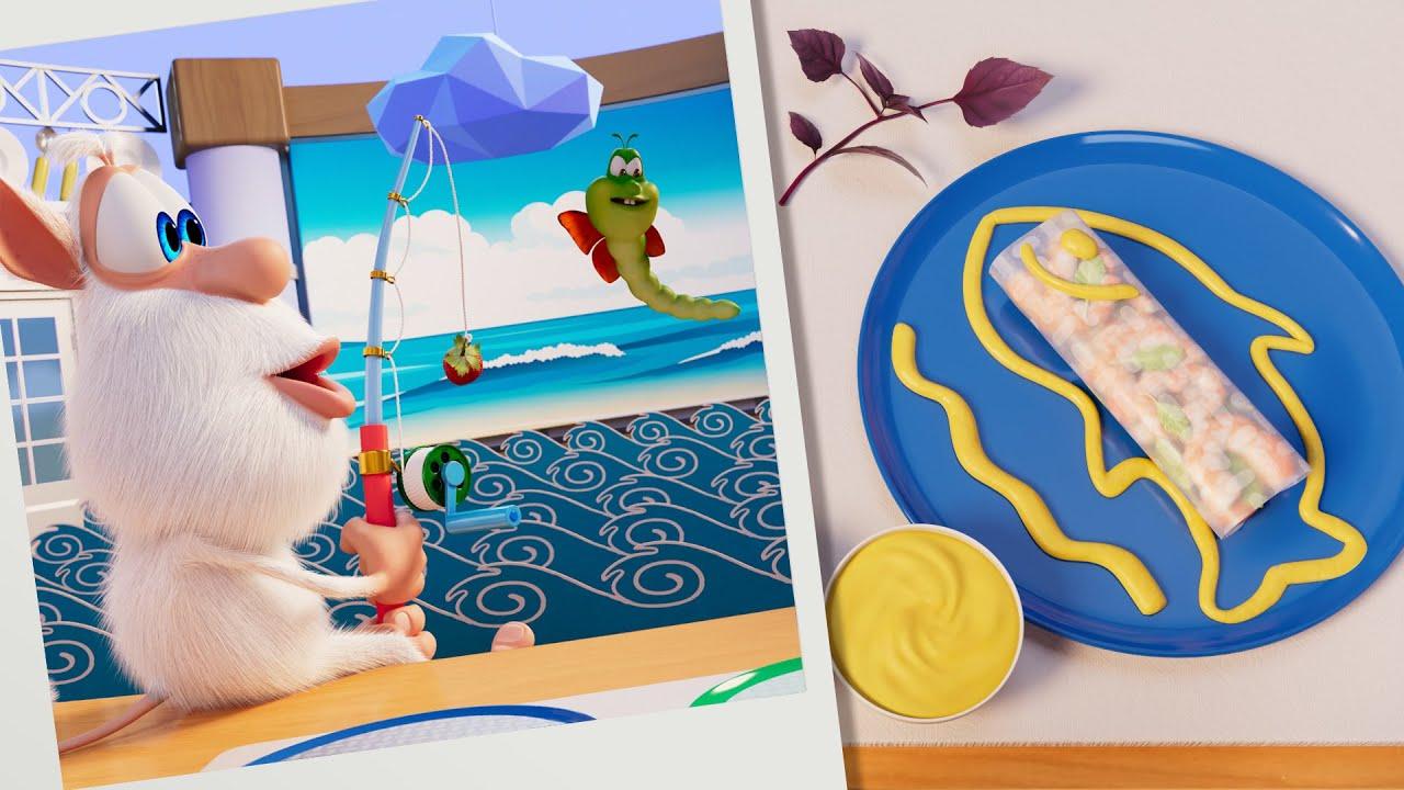 Буба 🌯 Кулинарное шоу: Роллы с креветками 🦐 Серия 24 - Весёлые мультики для детей - БУБА МультТВ