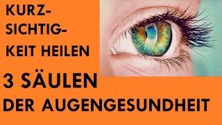 Kurzsichtigkeit heilen - 3 Säulen der Augengesundheit