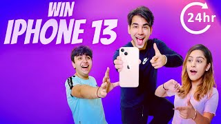 WIN IPHONE 13 IN 24 HOURS WITH MY BROTHER & SISTER | Rimorav Vlogs