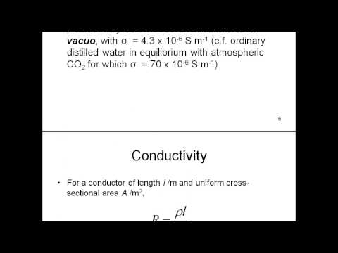Electrochemistry - History and nomenclature, Conductivity, Conductance and Molar Conductivity