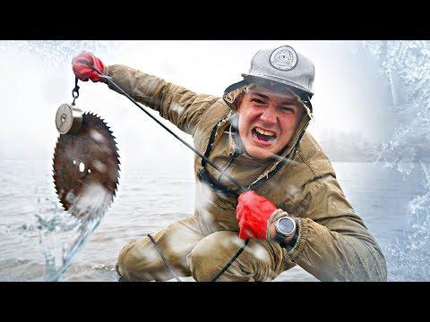 Магнитная рыбалка во время жуткой снежной бури пошла не по плану