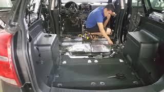 #2 Шумоизоляция и аудиоаппаратура на Chevrolet Captiva. Oбзор на узбекском языке. Mастерская