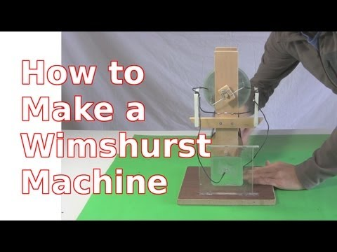 Wimshurst Machine - How to Make using CDs