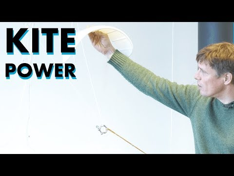 Kite Power can replace traditional wind turbines: harvest wind energy with a lightweight Kite