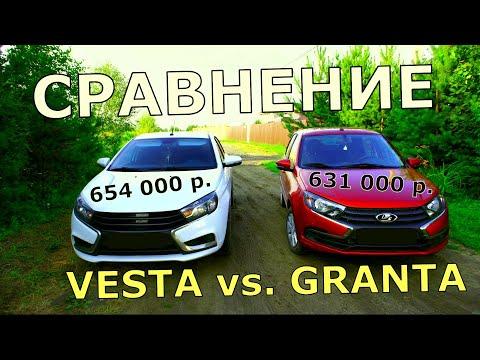 LADA Vesta против LADA Granta. Сравнение.