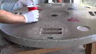 Video 5 Of 5 How To Make A Concrete Tabletop Or Poker Table