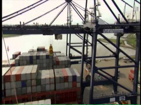 The One Show shipping container from Felixstowe Docks