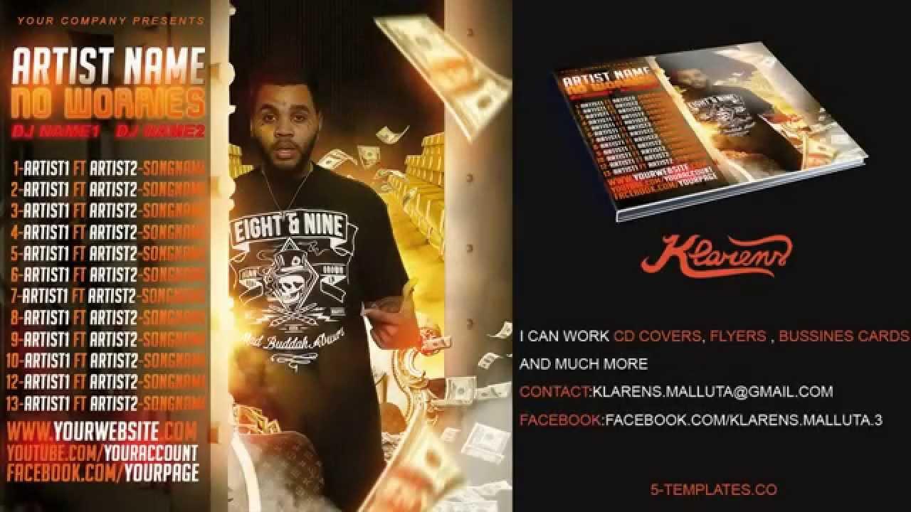 hip hop mixtape album cd cover free psd template