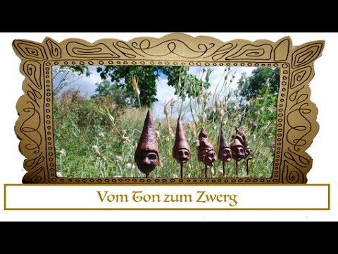 Gartenzwerge Selber Machen I Gartendeko Aus Ton Youtube