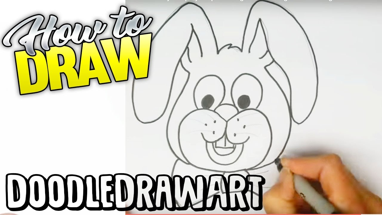 Drawing: How To Draw Easter Bunny Step By Step Drawing Lesson  Beginner  Drawing Tutorial