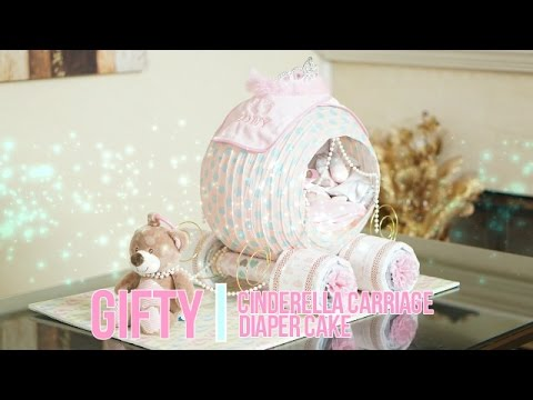 Cinderella Carriage Diaper Cake Youtube