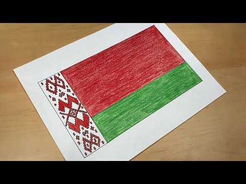 How to Draw the Belarusian Flag | Flag Speed Draw