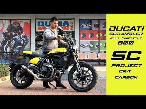 Knalpot Ducati Scrambler 800 SC Project CR-T Sound Check   DuniaMotor.com