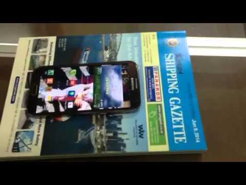 코리아 쉬핑 가제트 주간지에서 멀티미디어 구동시키기 시연 (NFC)