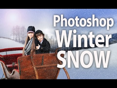 How To Add Winter Snow In Photoshop To Portrait In Minutes