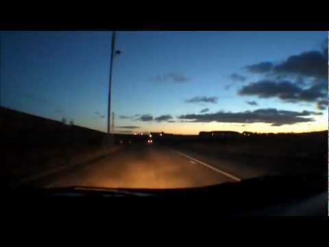 Driving At Dusk - Central Scotland - Winter Rush Hour - Wide Angle Dash Cam