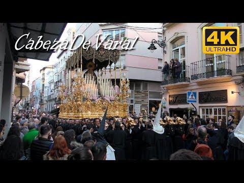 VIRGEN DE LA CARIDAD C/ALAMOS SEMANA SANTA MÁLAGA 2018 4K