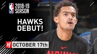 Trae Young Official NBA Debut Full Highlights Hawks vs Knicks 2018.10.17 - 14 Pts, 6 Reb