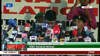 INEC Chairman Announces Result Of 2019 Presidential Election Pt.1