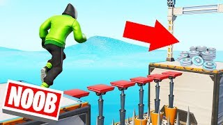 Playing The FORTINTE DEFAULT NOOB Deathrun! (Fail = NOOB)