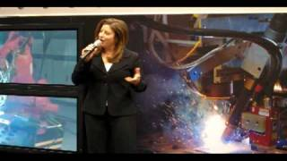 ESAB In-Booth Presentation at AWS / FABTECH Expo 2009 by Trade Show Presenter Emilie Barta