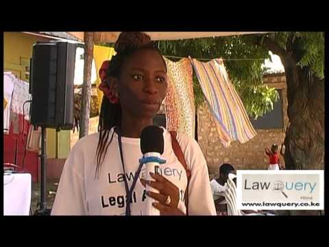 LawQuery CEO Eva Mola at the Legal Aid Clinic in Kisauni