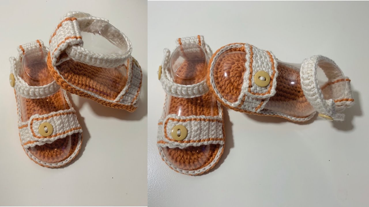Huarachitos para bebe tejidos a crochet | 3 a 6 meses | Modelo unisex | TejidosBebe