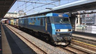 EH200 貨物列車 桶川駅通過 2018.4.1