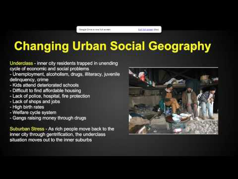 Chapter 13 Key Issue 4 - Urban Patterns - AP Human Geography