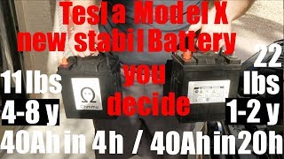 Tesla Model X new very stabil battery