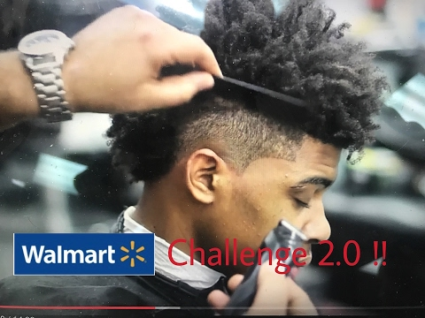 Walmart challenge 2.0 using trimmers HAIRCUT chris bossio/360jeezy callout