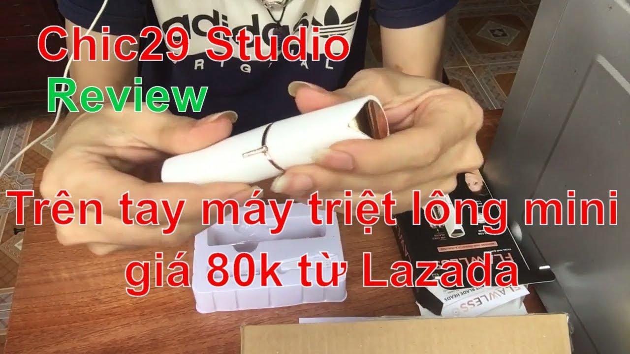 Trên tay máy triệt lông mini giá 80k từ Lazada