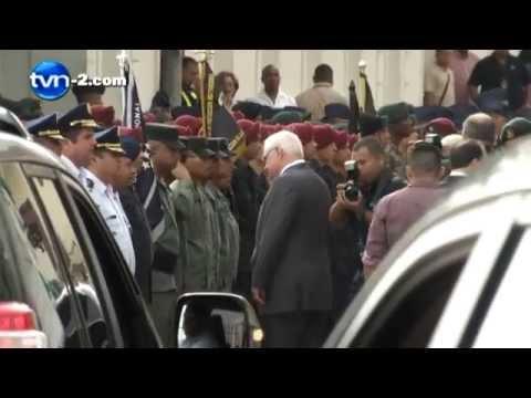 Martinelli en su último día como Presidente de la República de Panamá