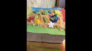 Торт ПЕСОЧНИЦА из мастики.