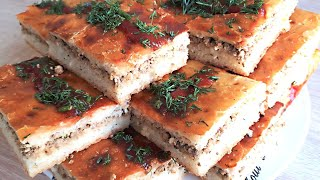 Пирог с Мясом, Укропом и Кетчупом