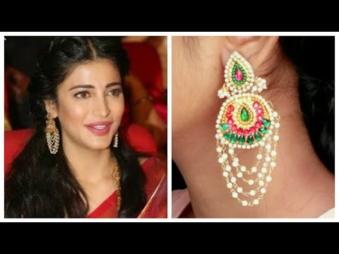 How To Make Silk Thread Chandbali Earrings || Designer Celebrity Collection made with Silk Thread