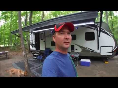Awenda Provincial Park - PT. 1 - Campfire Chicken Breast & Campsite #241