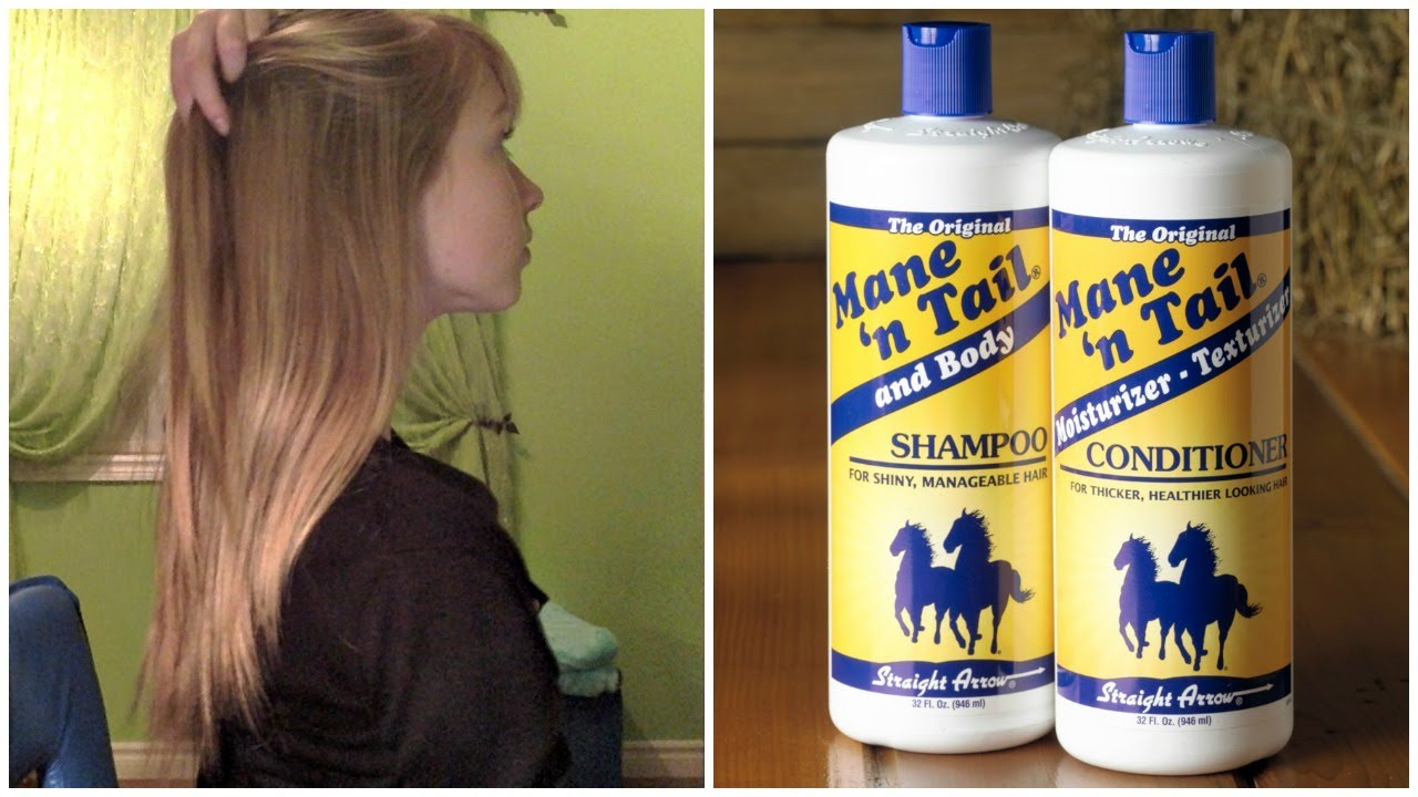 Mane N Tail Shampoo Conditioner Review Before And After Growth Results Youtube