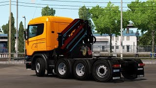 [1.34] Euro Truck Simulator 2 | Crane for Scania R4 (RJL) | Mods