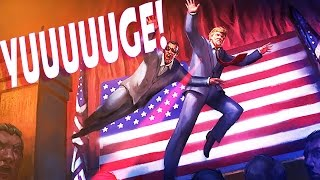 BODYSLAMMING TRUMP! - Mr President Gameplay and Funny Moments