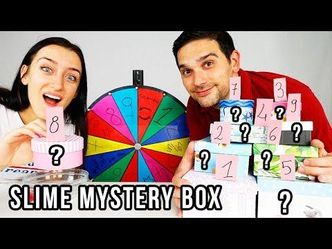 SLIME CON LE MYSTERY BOX SCELTE DALLA RUOTA!!! INGREDIENTI STRANI!!!