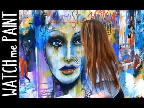 Abstract  art painting - Speedpainting Portrait in street-art style by zAcheR-fineT