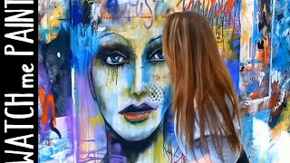 Abstract  art painting - Speedpainting Portrait in street-art style by zAcheR-fineT