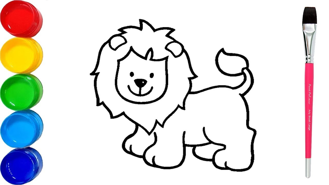 Lion for little children coloring pages how to draw lion coloring pages for kids lion for kids