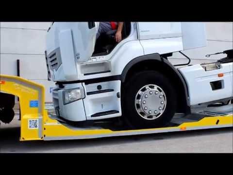 """Carrellone super ribassato """"FGM 26"""" soccorso stradale - trasporto Renault Premium 450"""