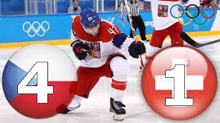Чехия х Швейцария 4-1 Пхёнчхан 2018 Олимпиада хоккей