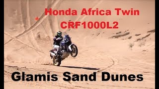 Africa Twin Adventure Sports CRF1000L2 Imperial Sand Dunes Glamis Deep Sand