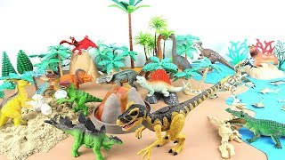 Dinosaurs Volcano Island - Learn Names of Dinosaurs on Jungle! Fun Dino Adventure Story For Kids