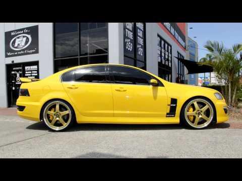 Holden E3 HSV GTS 22 inch custom rims 22x8 5 and 22x9 5 Gold